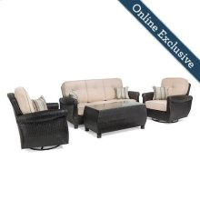 Breckenridge 4 Piece Patio Furniture Set, Natural Tan