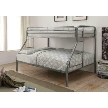 Morgan Silver Twin Full Bunk Bed