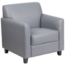 Gray Leather Chair