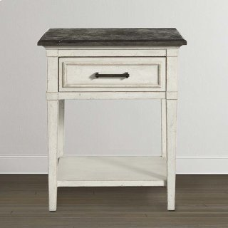 Bella Stone Top Bedside Table