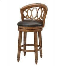 Adelyn Swivel Bar Height Stool - Brown Cherry
