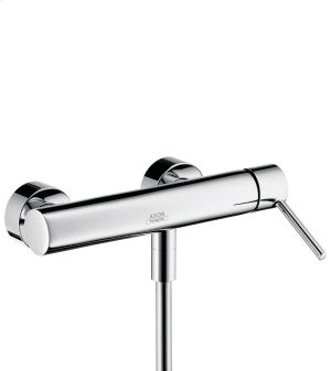 Chrome Single lever shower mixer for exposed installation with pin handle Product Image