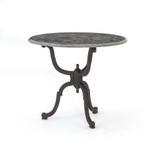 Iron Bistro Pedestal Table W/ Bluestone