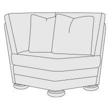 Foster Corner Chair in Molasses (780)
