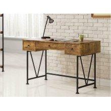 Barritt Industrial Antique Nutmeg Writing Desk