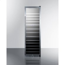 Triple Zone 133 Bottle Wine Cellar With Seamless Stainless Steel Trimmed Glass Door, Lock, and Digital Controls