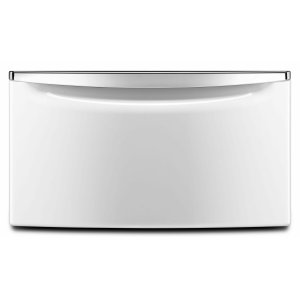"""15.5"""" Pedestal for Front Load Washer and Dryer with Storage White Product Image"""