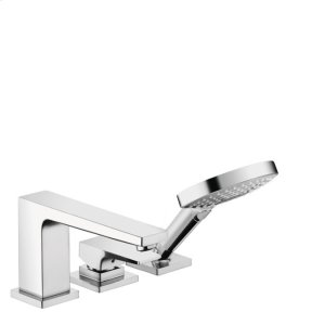 Chrome 3-Hole Roman Tub Set Trim with Lever Handle and 1.75 GPM Handshower Product Image