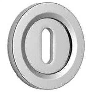 "Satin Nickel Lever lock concealed fix escutcheon, 1 1/2"" diameter"