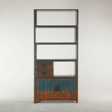 "Library Bookshelf 39"" Antique Blue"