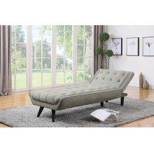 Natalia Mid-century Modern Dove Grey Chaise