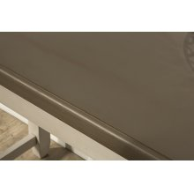 Clarion Counter Height Side Table - Distressed Gray Top With Sea White Base
