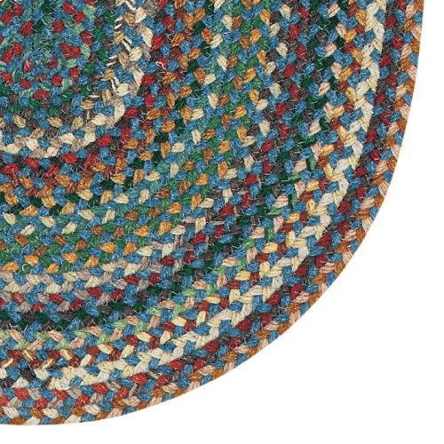 Bear Creek Deep Blue Braided Rugs (Custom)