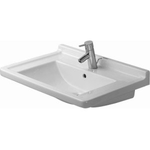 Starck 3 Furniture Washbasin 3 Faucet Holes Punched