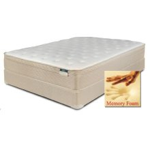 Chrome - Foam Encased Euro Pillow Top with Memory Foam - Queen