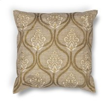 "L182 Gold Damask Pillow 18"" X 18"""