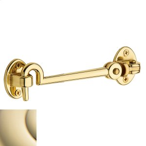Lifetime Polished Brass Cabin Door Hook Product Image
