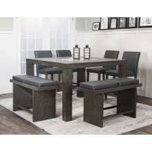 Cougar 7pc Charcoal Pub Set