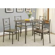 Transitional Walnut Five-piece Set Product Image