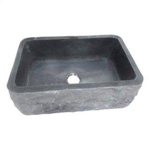 "Birgitta Single Bowl Granite Farmer Sink - Polished Black / 36"" Product Image"