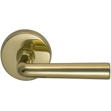 Interior Modern Lever Latchset in (US3 Polished Brass, Lacquered)