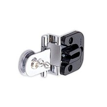 Half Overlay Glass Door Hinge (w/catch)