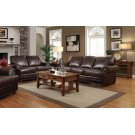 Colton Brown Leather Two-piece Living Room Set Product Image
