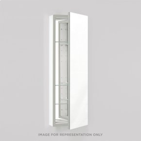 "Pl Series 15-1/4"" X 39-3/8"" X 4"" Flat Top Cabinet With Polished Edge, Non-handed, White Interior and Non-electric"