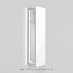 "Pl Series 15-1/4"" X 39-3/8"" X 4"" Flat Top Cabinet With Polished Edge, Non-handed, White Interior and Non-electric Product Image"