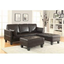 Ellesmere Contemporary Brown Sofa Bed