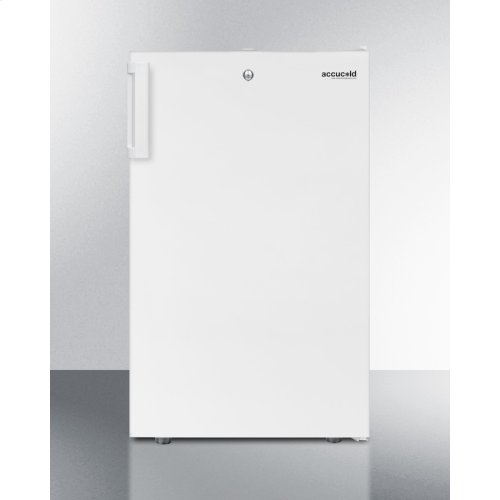 """Commercially Listed ADA Compliant 20"""" Wide Counter Height All-refrigerator, Auto Defrost With A Lock and White Exterior, New - No Box / Linthicum Md / HAMM7ADA / Inventory ID: 421033"""