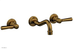 HENRI Wall Lavatory Set - Lever Handles 161-12 - French Brass Product Image