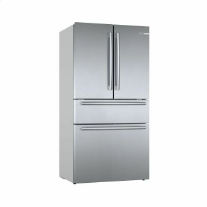800 Series French Door Bottom Mount Refrigerator Easy clean stainless steel B36CL80SNS Product Image