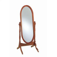 Traditional Warm Brown Floor Mirror