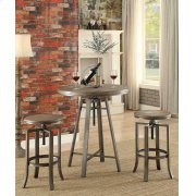 Industrial Walnut Adjustable Bar Stool Product Image