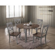 5059 ALACARTE: Grey Counter Table & 4 Counter Chairs