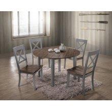 5059 ALACARTE: Grey Counter Table & 4 Counter Chairs