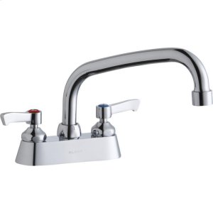 """Elkay 4"""" Centerset with Exposed Deck Faucet with 8"""" Arc Tube Spout 2"""" Lever Handles Product Image"""