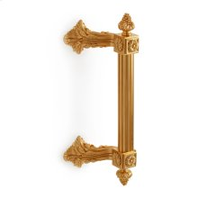 Antique Gold Fluted Breakers Bar Pull