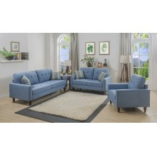 Kourtney Blue Sofa