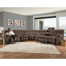 Reclining Sofa w/Drop Down Table, Lights & Cupholder