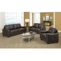 Jasmine Casual Brown Three-piece Living Room Set Product Image