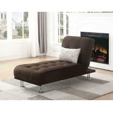 Ellwood Transitional Brown Chaise