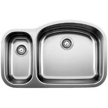 Blancowave 1-1/2 Reverse Bowl (bowl Depth 8'') - Satin Polished Finish