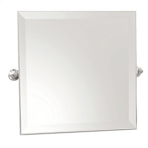 "Polished Chrome 20"" x 20"" Small Frameless Mirror Product Image"