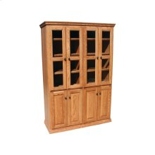 """Traditional Alder 48"""" 8-Door Bookcase"""