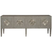 Nightingale Entertainment Credenza in Weathered Greige