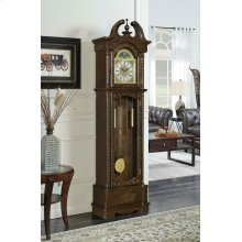 Traditional Brown Grandfather Clock
