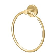 Latitude2 Towel Ring - Solid Brass in Brushed Brass