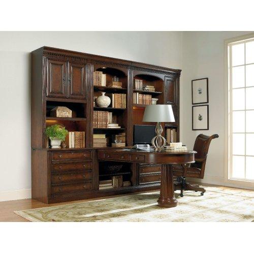 Home Office European Renaissance II Peninsula Desk Pedestal